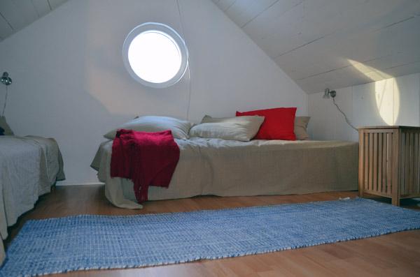 Sovloftet i stuga Lilla Steninge på Utö